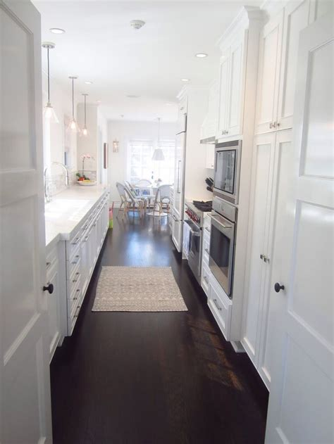 Galley Kitchen White Cabinets Exclusive A Chic Galley Kitchen Galley Kitchens Kitchens And White Galley Kitchens