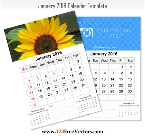 wall calendar design template wall calendar january 2016 by 123freevectors on deviantart