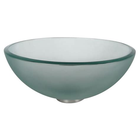 frosted glass vessel sink kraus frosted 14 glass vessel sink with free shipping