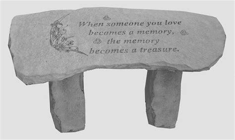 memorial bench sayings memorial garden bench when someone becomes a memory