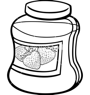 jam jar coloring page coloring pages for free