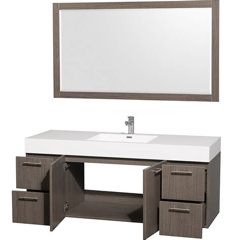 Mounted Vanity by Amare 60 Quot Wall Mounted Single Bathroom Vanity Set With