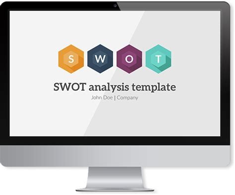 swot powerpoint template improve presentation