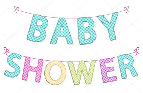 letras de baby shower para imprimir cute festive garlands for baby shower stock vector