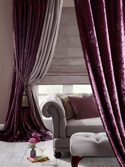 curtains velvet purple velvet curtains ideas to every parts of a house