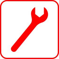 Red wrench clip art at clker com vector clip art online royalty
