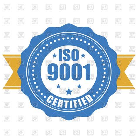 quality clipart iso 9001 certified quality standard seal royalty free