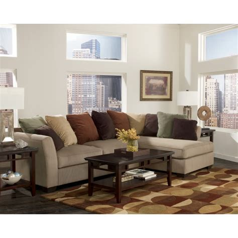 ashley mocha sectional 707041766 ashley furniture signature design larken mocha 2