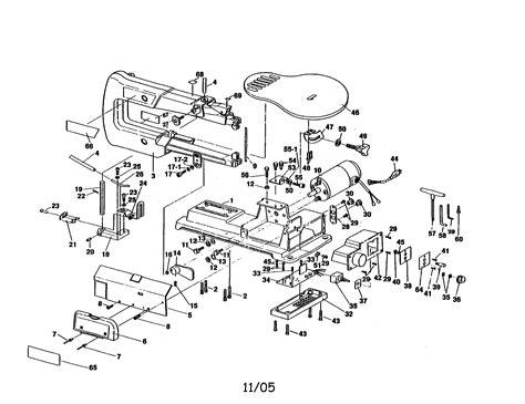 Ryobi Scroll Saw Parts Model Sc162vs Sears Partsdirect
