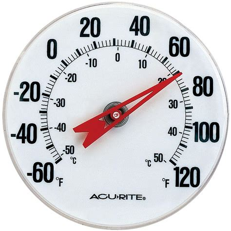 Thermometer Analog acurite analog thermometer 00346hdsba2 the home depot