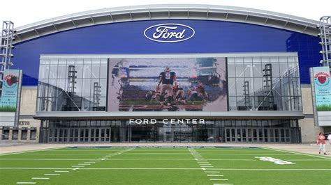 the room football the ford center at the gives cowboys room to grow football stadium digest