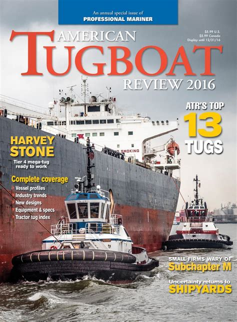tugboat vs towboat professional mariner american tugboat review 2016 by