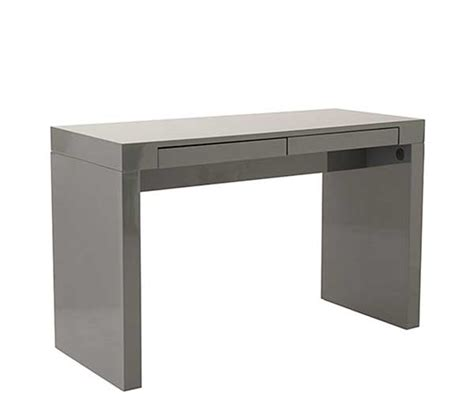 High Work Desk by Modern High Gloss Lacquer Office Desk Estyle 25 In White