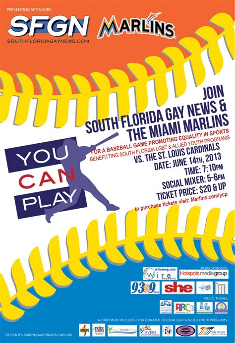 you can play you can play pride center at equality park of south florida