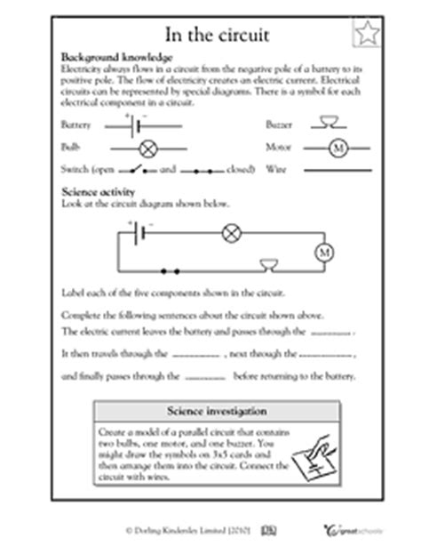 electric circuits worksheets diagrams 4th grade math worksheets relating fractions to decimals
