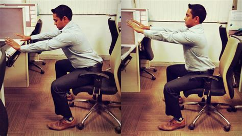 Squatting Desk by 11 Exercises To Do At Your Desk Gq India Section