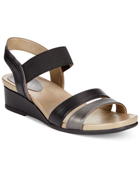 easy spirit bandra wedge sandals in black lyst