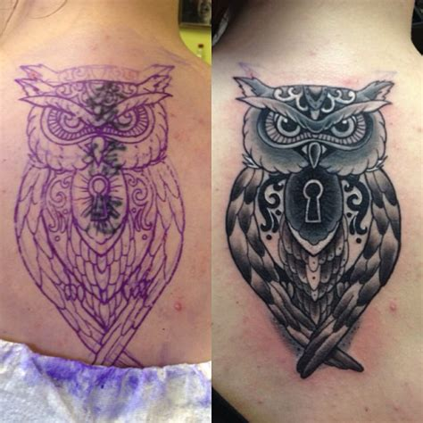 owl cover up tattoos cover up of 3 symbols tattoos