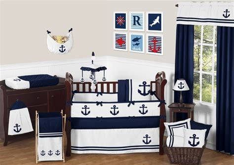 nautical themed baby bedding anchors away nautical baby bedding 9pc crib set by sweet