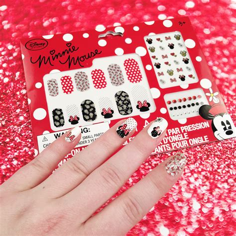 tutorial nail art minnie sweet and simple minnie mouse nail wrap tutorial