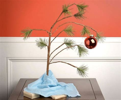 large charlie brown christmas tree brown tree dudeiwantthat