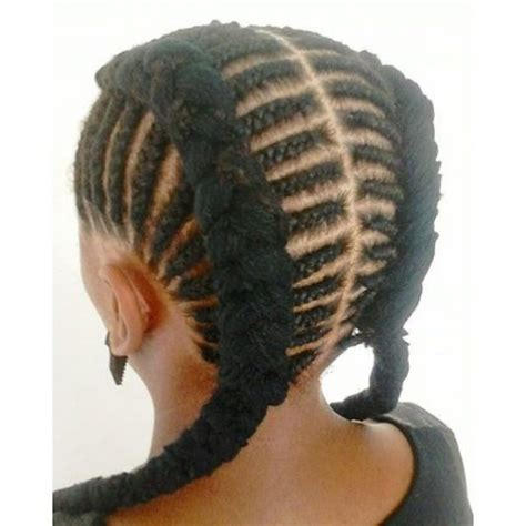 two braids goung into a ponytail natural hair cornrows braided into two french braids jazz hair