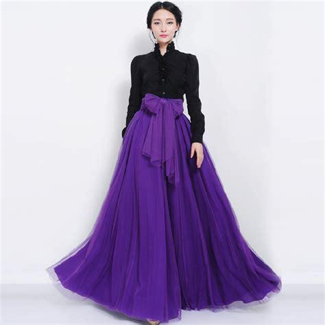 supernova sale purple solid chiffon pleated skirt skirt elastic high waist maxi dress tulle mesh pleasted bowknot ebay