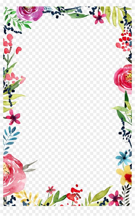 frame templates flower border transparent