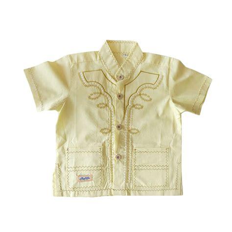 Koko Pendek jual rafifa koko pendek model b baju koko anak kuning