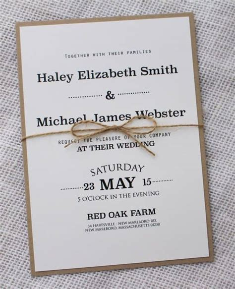Wedding Invitation Idea by Simple Wedding Invitations Best Photos Wedding Ideas