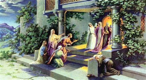 Wedding Feast Cana Catholic Commentary by The Parable Of The Ten Virgins St And