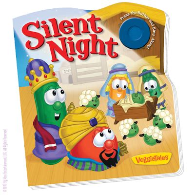 The Great Christmas Giveaway Lyrics - veggietales christmas books silent night away in a manger giveaway winner