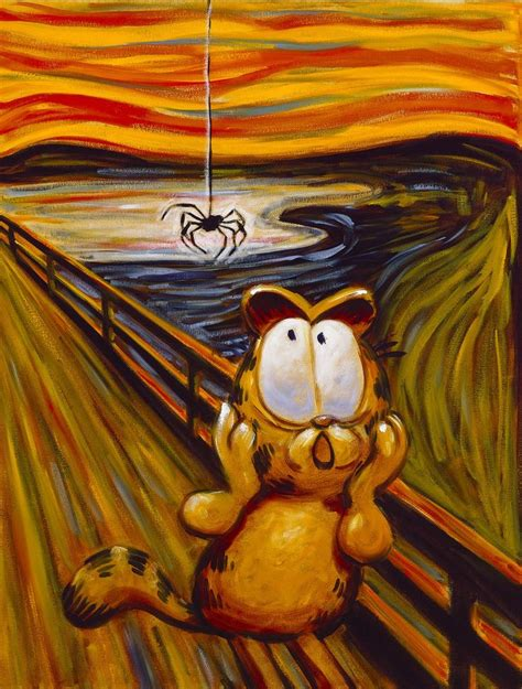painting garfield 118 best images about parodies the scream on