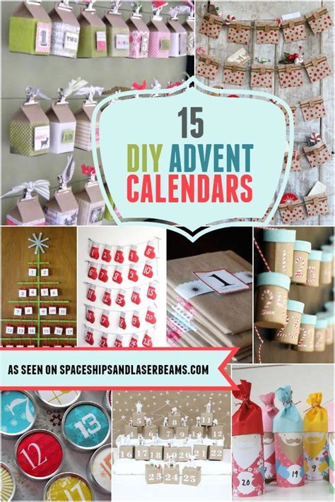 ideas for make your own advent calendar 15 diy advent calendars spaceships and laser beams