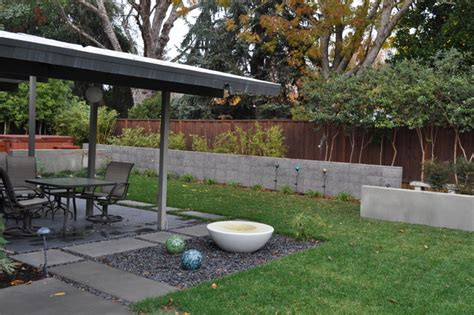 modern backyard landscaping eichler backyard