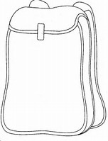 coloring backpack images collection