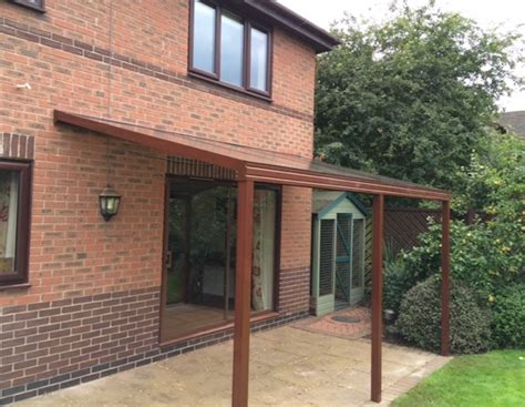 Awning For Back Of House Brown Back Garden Canopy In Derbyshire