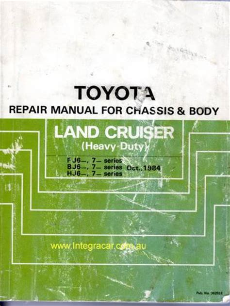 service and repair manuals 1992 toyota land cruiser interior lighting toyota landcruiser fj62 fj70 fj73 fj75 bj hj60 hj75 chassis body genuine repair manual used