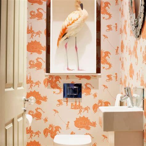 flamingo wallpaper bathroom cloakroom with dragon wallpaper wow wallpaper 10