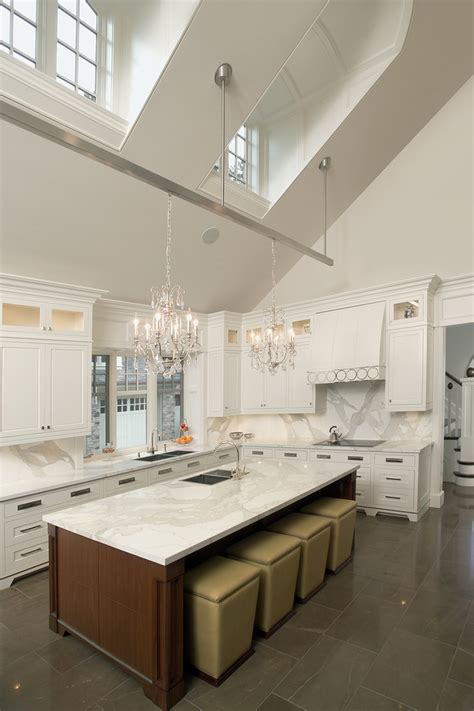 Kitchen Island Lighting For Vaulted Ceiling Slanted Ceiling Lighting Lighting Ideas