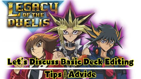 yu gi oh deck tipps yu gi oh legacy of the duelist basic deck building tips