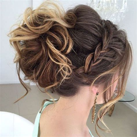 partial updo with braids 15 cute easy updos for medium hair 2016 2017 cute
