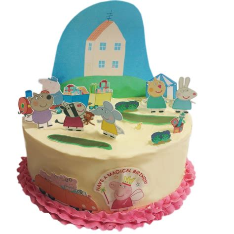 Peppa Pig Cake Decorations by Peppa Pig Edible Wafer Card Cake Topper