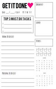 Fitness Planner Template Free Printable Daily Agenda Half Size With Fitness
