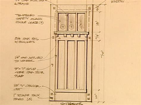 build   arts crafts door craftsman style doors