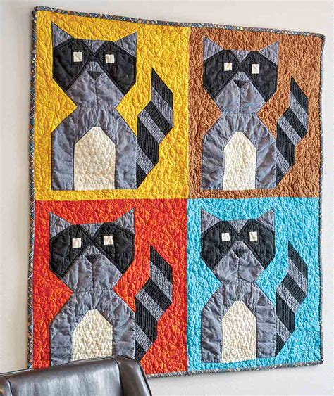 baby raccoon bandit quilt fons porter quilting daily