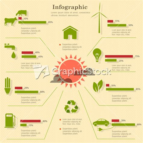 free green eco infographic template