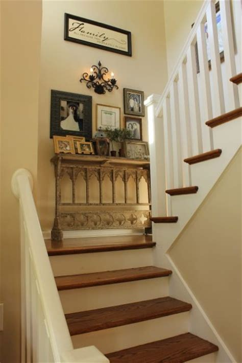 stair decorating ideas my foyer small hallways tables and collage