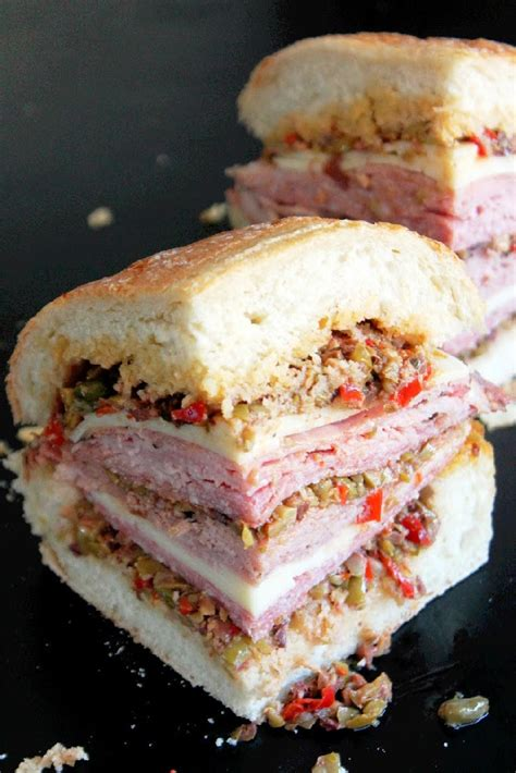 baked creole muffuletta sandwich creole contessa