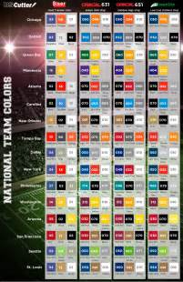 nfl team colors chart 1000 images about silhouette cameo ideas on